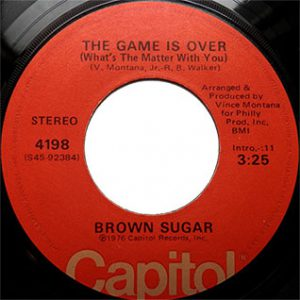 Brown Sugar The Game Is Over single played on Soulful Etiquette Radio Show By Chris Stewart