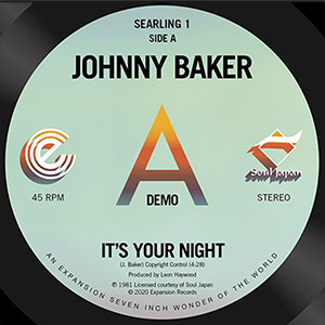 Johnny Baker It's Your Night August 2020